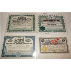 Breckenridge Stock Certificate Grouping
