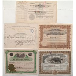 Colorado Teller County Stock Certificate Group