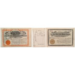 Cripple Creek Pair of Stock Certificates: Futurity Mining & Milling and Key West Gold Mining