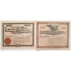 Cripple Creek Stock Certificates: Commercial Mens' GMC and Banner Gold Mining