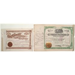 Cripple Creek Stock Certificates: Findley Gold Mining and Golden Age No. 2