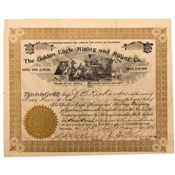 Golden Eagle Mining and Milling Co.  Stock Certificate