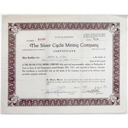 The Silver Cycle Mining Company stock certificate