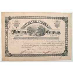 Alleghany Mining Company Stock Certificate