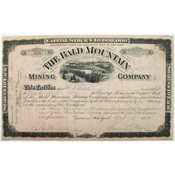 Bald Mountain Mining Company Stock Certificate