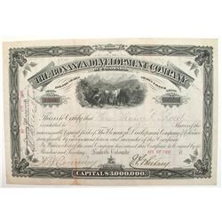 Bonanza Development Company of Colorado Stock Certificate