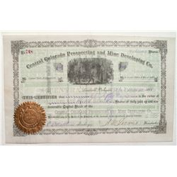 Central Colorado Prospecting and Mine Development Co. Stock Certificate