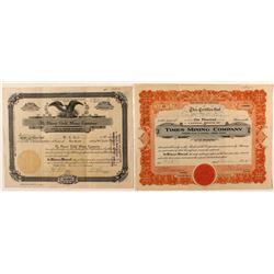 Lot of 2: Oatman Stock Certificates