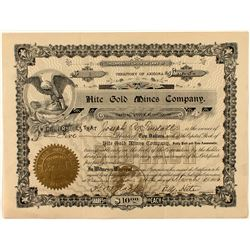 Hite Gold Mines Company Stock Certificate #1