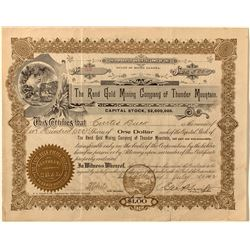 Unknown Randsburg Mining Company Stock Certificate