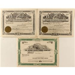 Yreka Gold Mining Stocks Trio