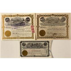 San Bernardino County Mining Certificate Trio