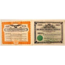 Colorado Mining Stock Certificates