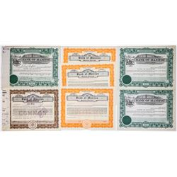 Bank of Manitou Stock Certificate Group (7)