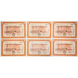 Lehigh Industries & Investing Corp. Stock Certificates (6)
