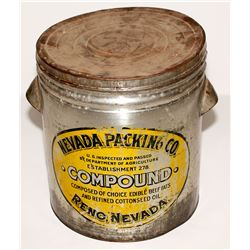 Nevada Packing Co. Large Metallic Container