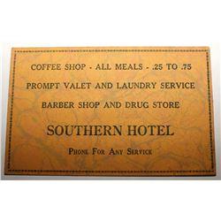 Southern Hotel Blotter