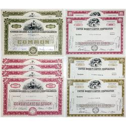 United Board & Carton Corporation Stock Certificates (10)