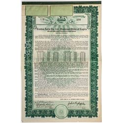 Canton Aerie No. 141, Fraternal Order of Eagles $50 Gold Bond
