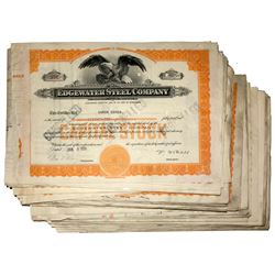 Edgewater Steel Company Stock Certificate Group #2
