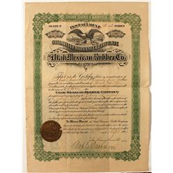 Utah Mexican Rubber Co. Stock Certificate