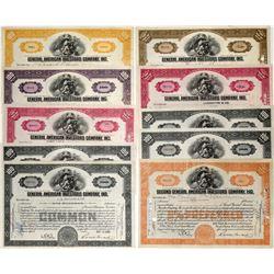 General American Investors Stock Certificates- 1930's (10)