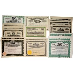 Group of Unissued Stock Certificates (26)