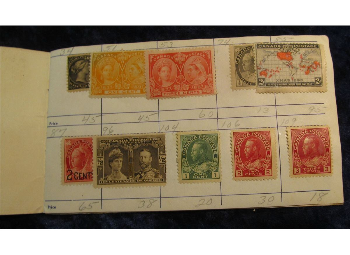 Jamestown Stamp Company Booklet Of Stamps On Approval With Many Old