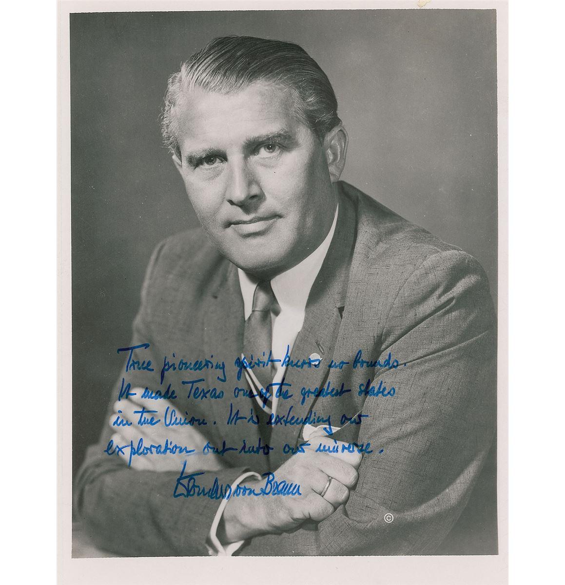Wernher Von Braun Signed Photograph