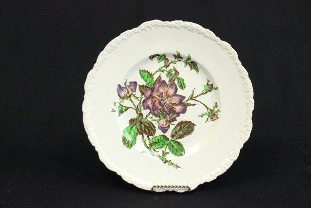 England 1930s Floral Dinner Plates Set of Four: Cauldon England Approximately 11 Diameter