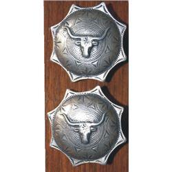 silver loop back steer head