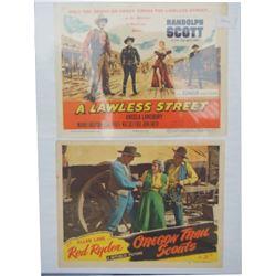 2 lobby cards, Red Ryder & Randolph Scott