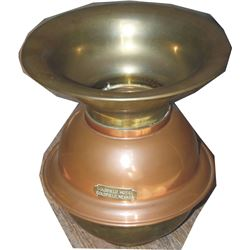 early brass and copper spittoon