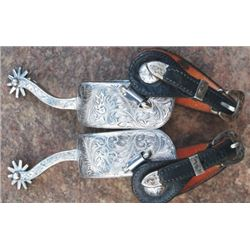 Fleming silver overlaid spurs