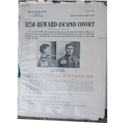 3 old original wanted posters