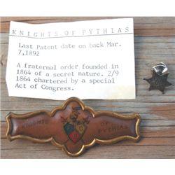 1920's silver lapel US marshall pin