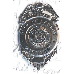 Marshall Ralph Hooker, Lawson, MO badge