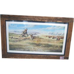barn wood framed Ewalt print