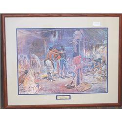"""framed C Russell print """"York"""""""