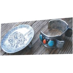 silver mining company belt buckle