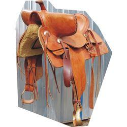"""1912 JM Hayes 25"""" wide fork saddle tree"""