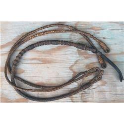 braided rawhide rommel reins