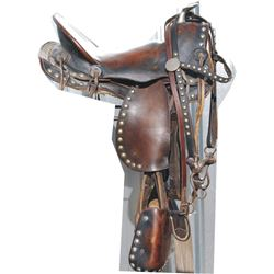 1940's spotted pony saddle and bridle
