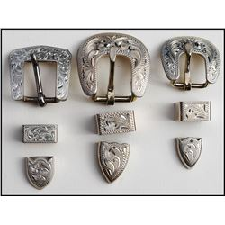 10 sterling buckle sets (3 sets are shown)