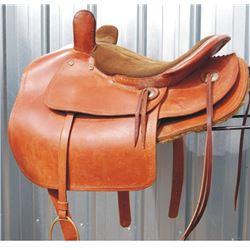 ladies side saddle restored by VL Zumwalt in 1971