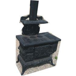 cast iron stove, salesman sample size