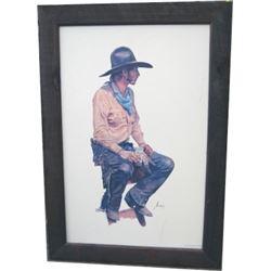 Gordon Snidow framed cowboy print