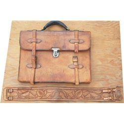 Geo Lawrence attache' case & tooled ladies belt