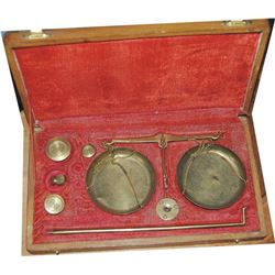 set of early gold scales
