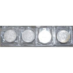 4 Morgan silver dolars
